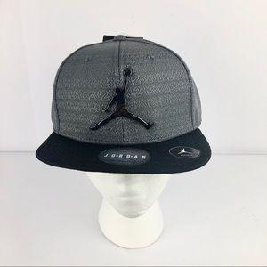 Nike Air Jordan Gray Black Baseball Cap Hat Boys